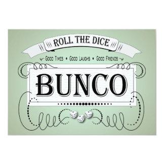 Vintage Bunco 5x7 Paper Invitation Card