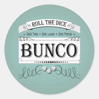 Vintage Bunco Design Classic Round Sticker
