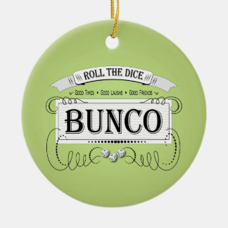 Vintage Bunco Design Christmas Tree Ornaments