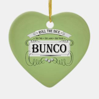 Vintage Bunco Design Christmas Ornament