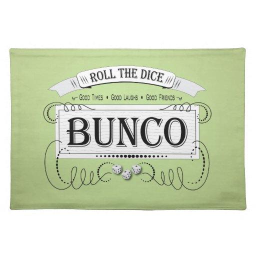 Vintage Bunco Design Placemat Zazzle
