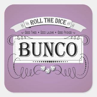 Vintage Bunco Design Square Sticker