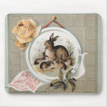 Vintage Bunnies Ballad of the Lost Hare Mousepad