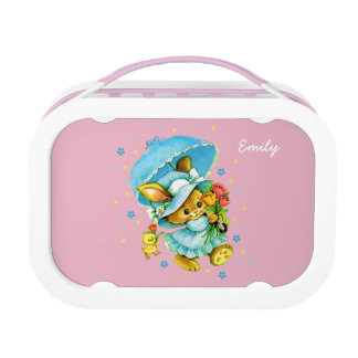 Vintage Bunny and Chick. Custom Kids' Lunch Box