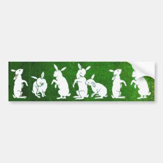 Vintage Bunny bumpersticker Bumper Sticker