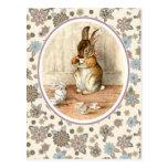 Vintage Bunny by Beatrix Potter. Easter Postcards