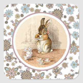 Vintage Bunny by Beatrix Potter. Easter Stickers