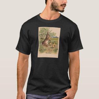 Vintage Bunny & Chicks Easter Card T-Shirt