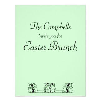 Vintage Bunny Council Easter Brunch Invitation