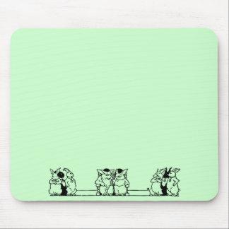 Vintage Bunny Council Mousepad