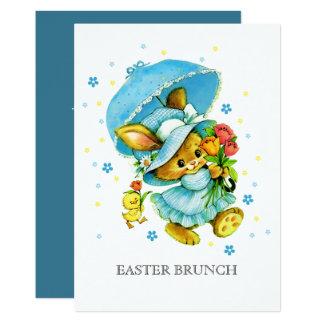 Vintage Bunny Custom Easter Brunch Invitations