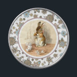 """Vintage Bunny design tin Easter Candy<br><div class=""""desc"""">Happy Easter. Easter Gift or Easter Brunch Favors Jelly Belly™ Candy with a Vintage Bunny Children&#39;s Book Illustration, circa 1902. Matching cards, postage stamps and other products available in the Holiday / Easter Category of our store. Happy Easter, Buona Pasqua, Felices Pascuas, Frohe Ostern, Joyeuses P&#226;ques, Feliz P&#225;scoa , Szczęśliwej...</div>"""