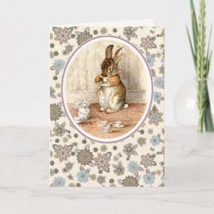 bunny easter cards zazzle