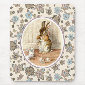 Vintage Bunny Easter Gift Mousepads