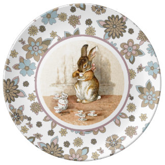 Vintage Bunny Easter Gift Plates