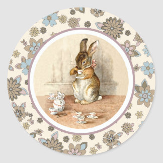 Vintage Bunny Easter Stickers