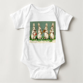Vintage Bunny Musicians Baby Bodysuit