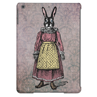 Vintage Bunny Rabbit in Dress w/Apron Illustration iPad Air Cases