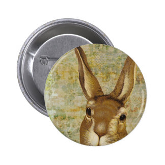 Vintage Bunny Rabbit Pinback Button