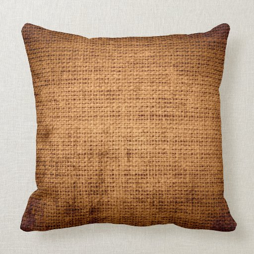 Vintage Burlap Linen Rustic Jute #2 Throw Pillow Zazzle