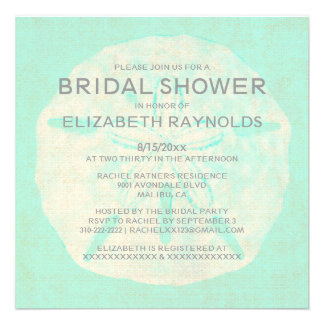 Vintage Burlap Sand Dollar Bridal Shower Invites Invitation
