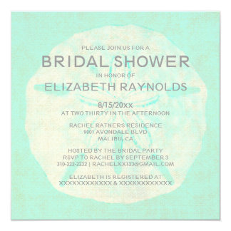 Vintage Burlap Sand Dollar Bridal Shower Invites Invitation