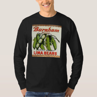 Vintage Burnham Brand Lima Beans Label T-Shirt