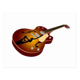 Vintage Burst Guitar Postcard