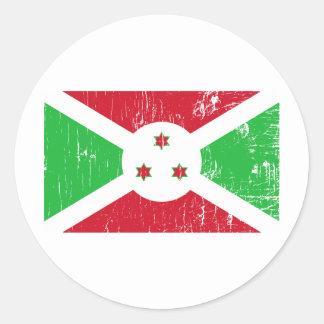 Vintage Burundi Classic Round Sticker