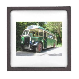 Vintage bus, 1940 transport , nostalgia image gift box