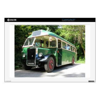 Vintage bus, 1940 transport , nostalgia image laptop decal
