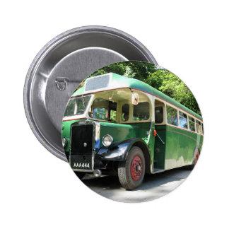 Vintage bus, 1940 transport , nostalgia image pinback button