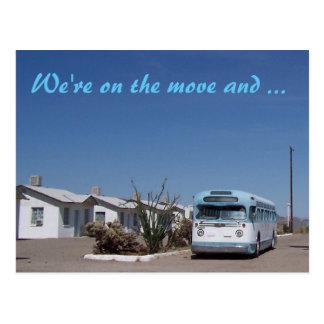 Vintage Bus Change of Address Postcard