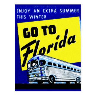 Vintage Bus Coach Matchbook Go To Florida Postcards