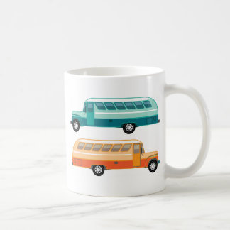 Vintage bus coffee mug