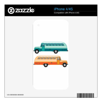 Vintage bus decal for iPhone 4