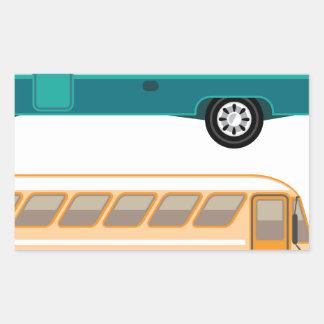Vintage bus rectangular sticker