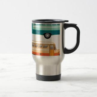Vintage bus travel mug