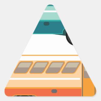 Vintage bus triangle sticker