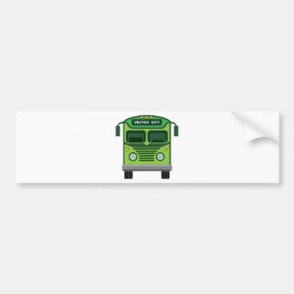 Vintage bus vector bumper sticker