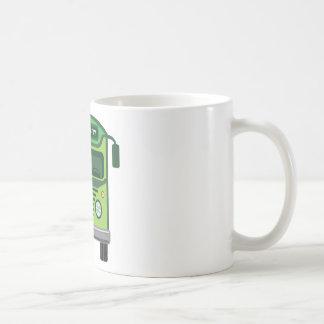 Vintage bus vector coffee mug