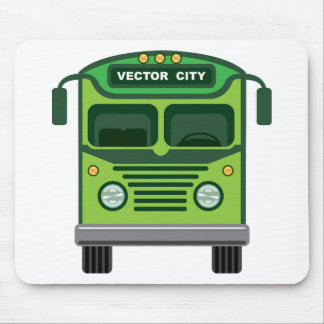 Vintage bus vector mouse pad