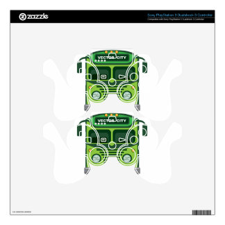 Vintage bus vector skins for PS3 controllers