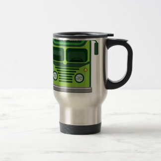 Vintage bus vector travel mug