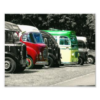 Vintage Buses Photo Print