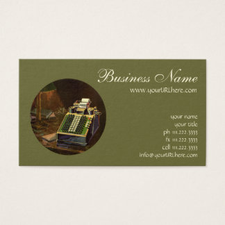 Vintage Business Accountant, Accounting Machine Business Card