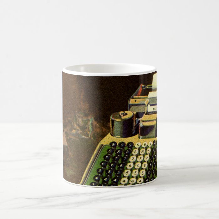 Vintage Business, Accountant Accounting Machine Coffee Mug
