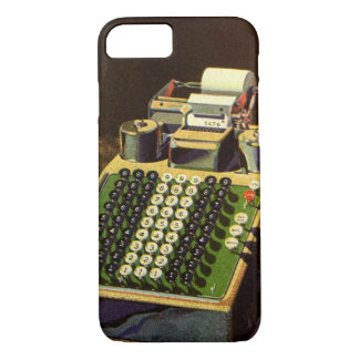 Vintage Business Accountant, Accounting Machine iPhone 8/7 Case