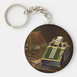 Vintage Business Accountant, Accounting Machine Keychain