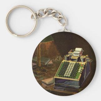 Vintage Business, Accountant Accounting Machine Keychain